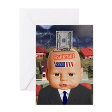 WE ARE BANKRUPT, Greeting Card