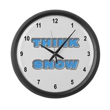 Think Snow Large Wall Clock