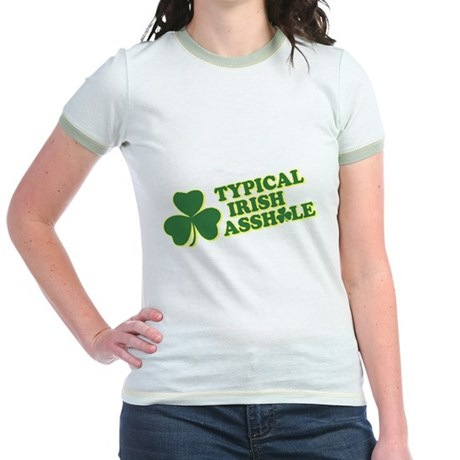 Typical Irish Asshole Jr Ringer T-Shirt