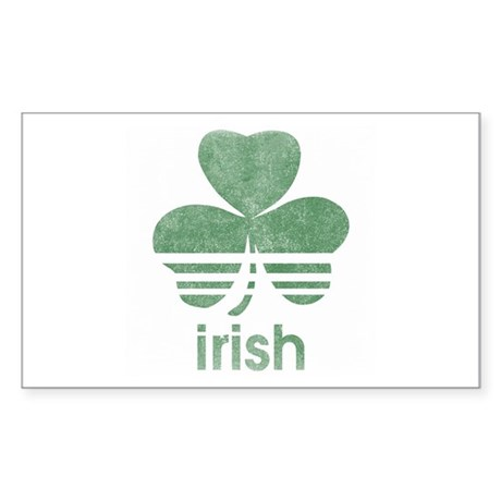 Vintage Irish Logo Rectangle Sticker