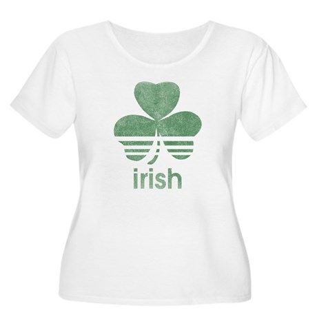 Vintage Irish Logo Womens Plus Size Scoop Neck T-