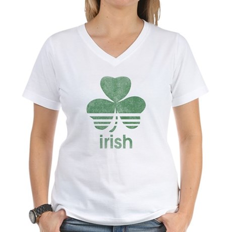 Vintage Irish Logo Womens V-Neck T-Shirt