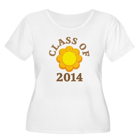 Sunflower Class Of 2014 Women's Plus Size Scoop Ne