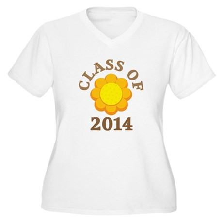 Sunflower Class Of 2014 Women's Plus Size V-Neck T