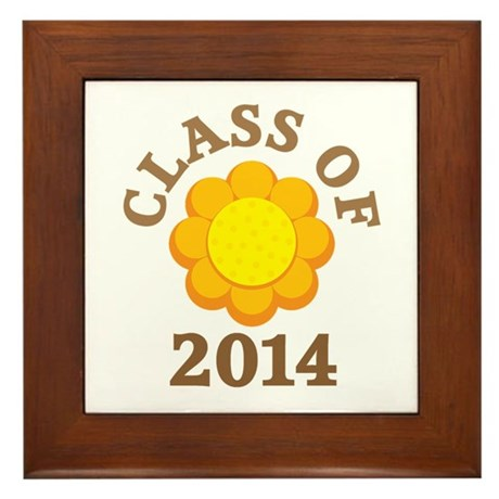 Sunflower Class Of 2014 Framed Tile
