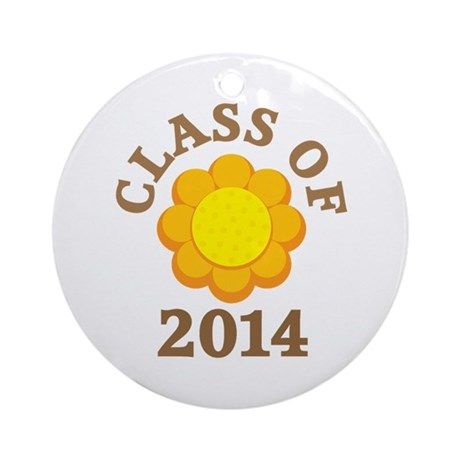 Sunflower Class Of 2014 Ornament (Round)
