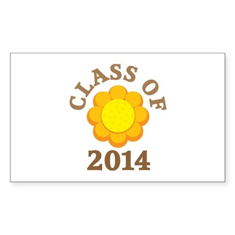 Sunflower Class Of 2014 Rectangle Sticker 10 pk)