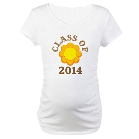 Sunflower Class Of 2014 Maternity T-Shirt