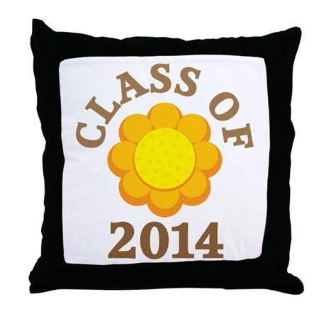 Sunflower Class Of 2014 Throw Pillow