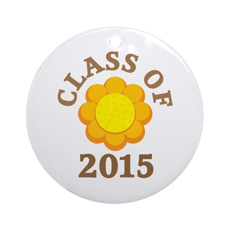 Sunflower Class Of 2015 Ornament (Round)