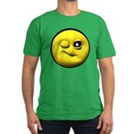 Winky Face Men's Fitted T-Shirt (dark)