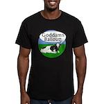 Goddamn Bailout Upset Cow Black T-Shirt