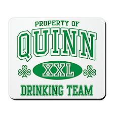 Quinn Irish Drinking Team Mousepad