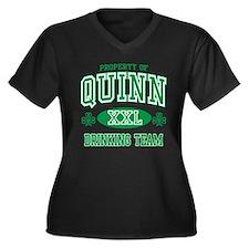 Quinn Irish Drinking Team Women's Plus Size V-Neck