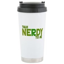 Talk Nerdy to me Ceramic Travel Mug