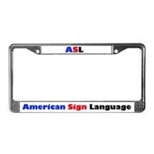 ASL License Plate Frame