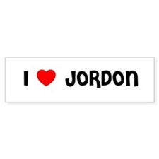 I LOVE JORDON Bumper Bumper Sticker