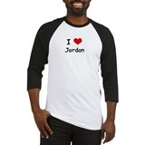 I LOVE JORDON Baseball Jersey