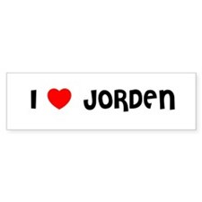 I LOVE JORDEN Bumper Bumper Sticker