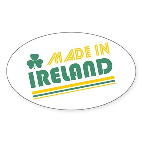 Made In Ireland Oval Sticker