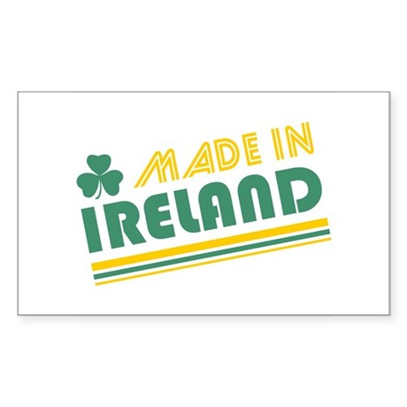 Made In Ireland Rectangle Sticker