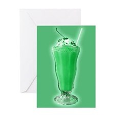 Sweet Green Milkshake Greeting Card