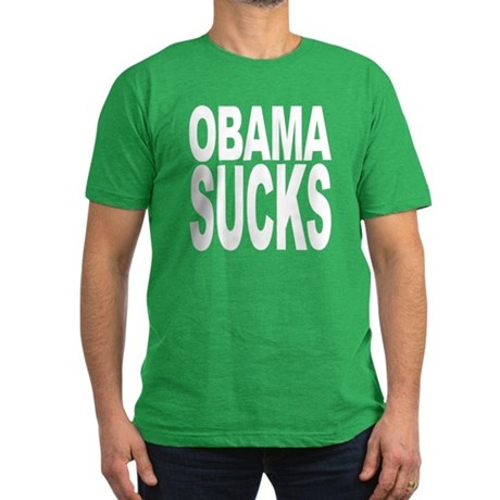 Obama Sucks Men's Fitted T-Shirt (dark)