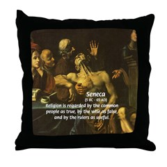 Humorist / Statesman: Seneca Throw Pillow