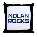 nolan rocks Throw Pillow