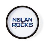 nolan rocks Wall Clock
