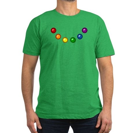 Rainbow Baubles Men's Fitted T-Shirt (dark)