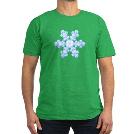 Flurry Snowflake XVII Men's Fitted T-Shirt (dark)