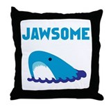 Jawsome Shark Throw Pillow