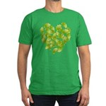 Ginkgo Leaf Heart Men's Fitted T-Shirt (dark)