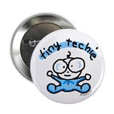 Tiny Techie Geek Baby Button