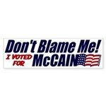 Don't Blame Me Bumper Sticker (10 pk)