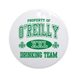 O'Reilly Irish Drinking Team Ornament (Round)