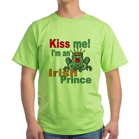 Kiss Me Irish Frog Green T-Shirt