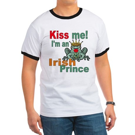 Kiss Me Irish Frog Ringer T
