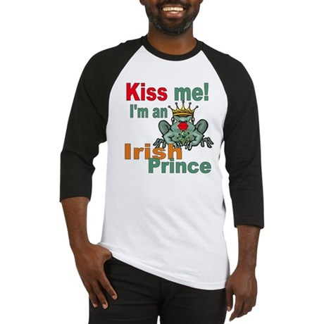 Kiss Me Irish Frog Baseball Jersey