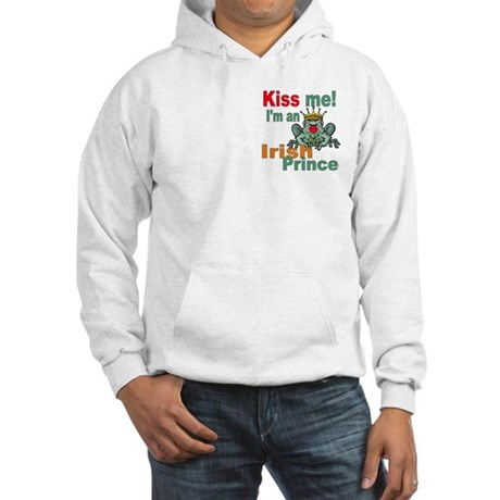 Kiss Me Irish Frog Hooded Sweatshirt