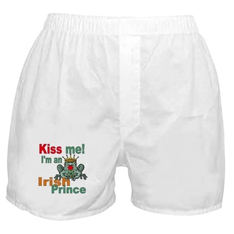 Kiss Me Irish Frog Boxer Shorts