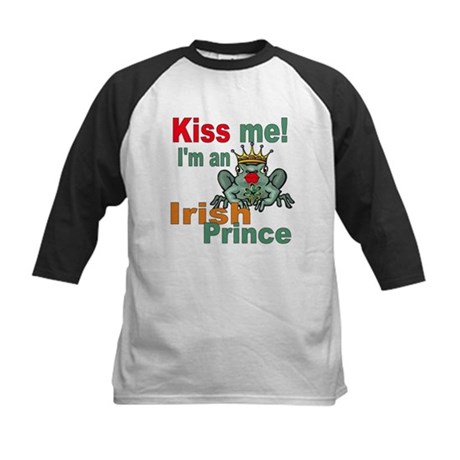 Kiss Me Irish Frog Kids Baseball Jersey