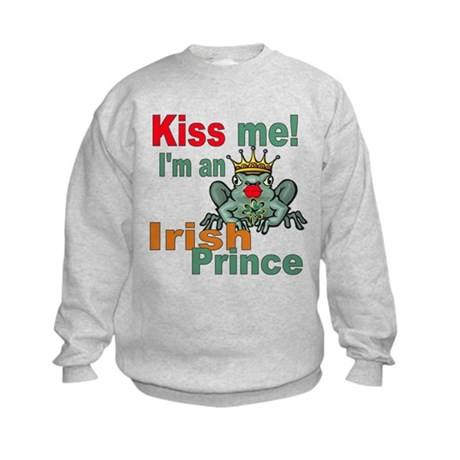 Kiss Me Irish Frog Kids Sweatshirt