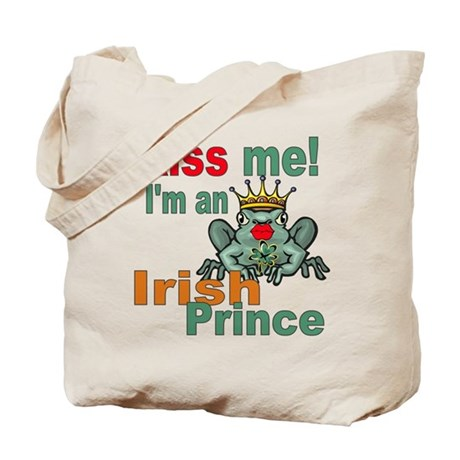 Kiss Me Irish Frog Tote Bag