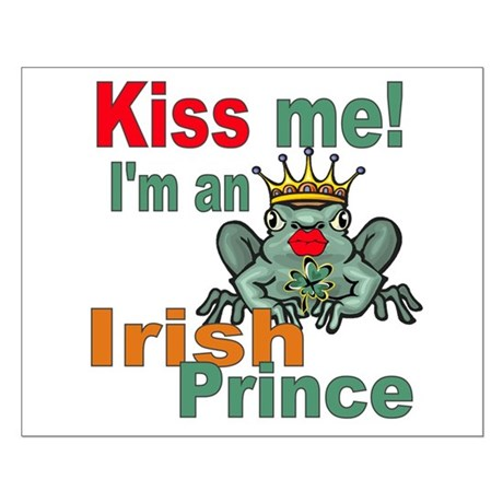 Kiss Me Irish Frog Small Poster