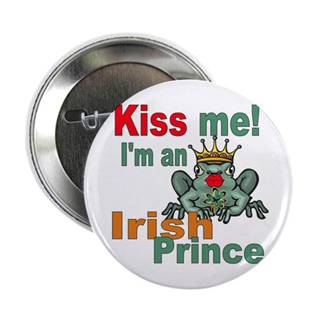 "Kiss Me Irish Frog 2.25"" Button (10 pack)"