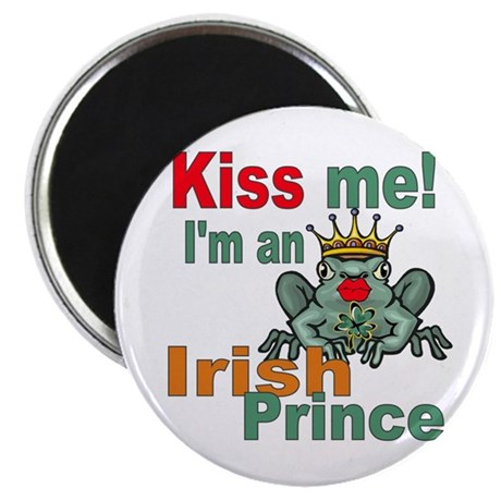Kiss Me Irish Frog Magnet