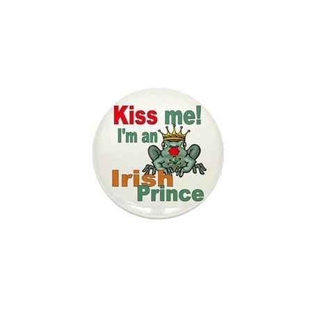Kiss Me Irish Frog Mini Button
