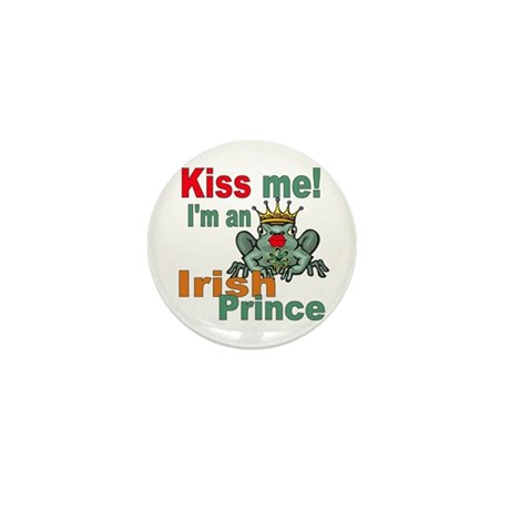 Kiss Me Irish Frog Mini Button (10 pack)